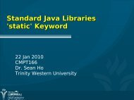 Standard Java Libraries 'static' Keyword