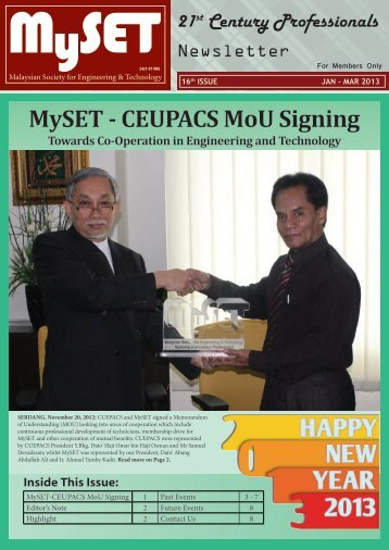 January 2013 - malaysian society for engineering and technology