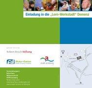 """Einladung in die """"Lern-Werkstadt"""" Demenz - Projekt Demenz Arnsberg"""