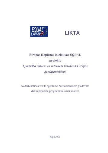 Nodarbinātības valsts aģentūras bezdarbniekiem ... - Latvija@Pasaule