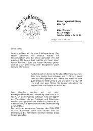 Elternbrief Ostern 2012 - Burg-Schlotterstein e.v.