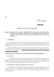 Oggetto: conferimento di incarico a responsabile del trattamento dei ...