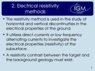 2. Electrical resistivity methods