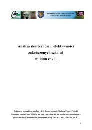 Analiza skuteczności i efektywności zakończonych szkoleń w 2008 ...