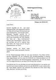 Kindertageseinrichtung Kita 10 - Burg-Schlotterstein e.v.