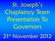 Chaplaincy Team Presentation Final (November 2012)