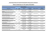 Oferta szkoleniowa na rok szkolny 2013/2014 - Warmińsko ...