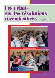Les débats sur les résolutions