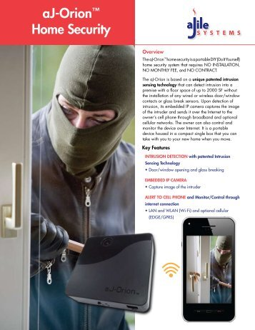 aJ-Orion™ Home Security - aJile Security - aJile Systems