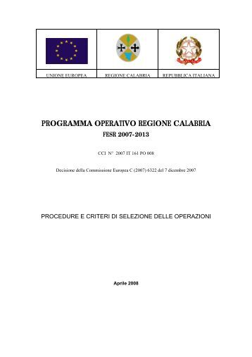 PO FESR Calabria 2007-2013 - Rete Pari Opportunita