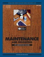 MAINTENANCE - Crescent Hardwood Supply