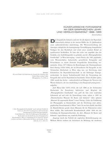 künstlerische fotografie an der graphischen lehr - Albertina