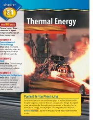 CHAPTER 21 Thermal Energy - Jenkins Middle High School