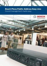 Commercial Brochure Plena Easy Line - Bosch Security