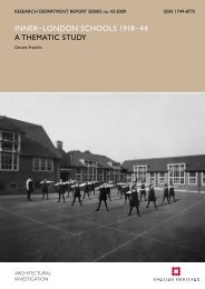 inner–london schools 1918–44 a thematic study - English Heritage