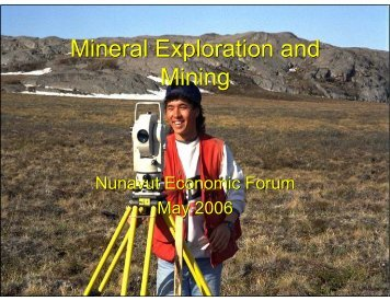 Mineral Exploration and Mining Mineral Exploration and Mining ...