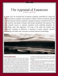 The Appraisal of Easements - International Right of Way Association