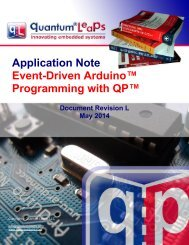 AN Event-Driven Arduino™ Programming with QP™ - Quantum Leaps