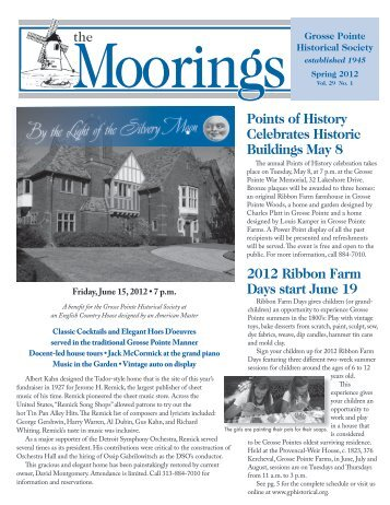 2012 Spring - Volume 29 No.1 - Grosse Pointe Historical Society