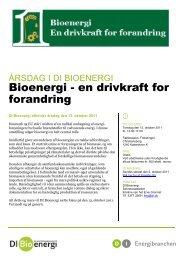 Bioenergi - en drivkraft for forandring - DI