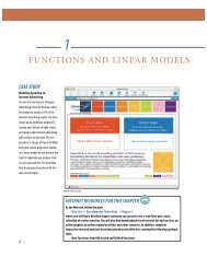 FUNCTIONS AND LINEAR MODELS - Home Page