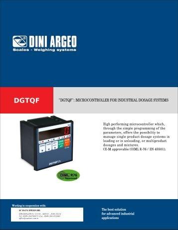 """dgtqf"": microcontroller for industrial dosage systems"