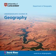 BSc Geography - University of Leicester