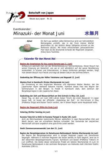 Minazuki - Botschaft von Japan