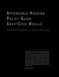 affordable housing policy guide - Center for Applied Transect Studies