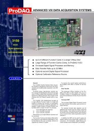 Prodaq 3150 High-Performance Motherboard - Bustec