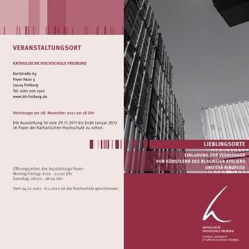 VERANSTALTUNGSORT - KH Freiburg