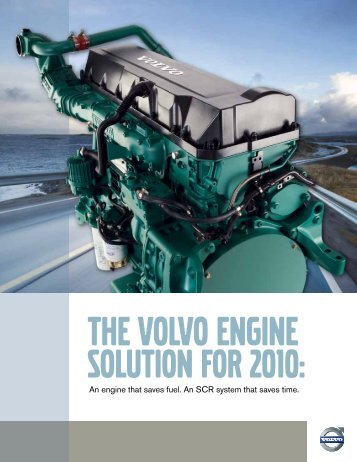 An engine that saves fuel. An SCR system that saves time.