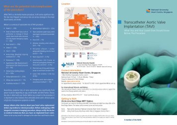 Transcatheter Aortic Valve Implantation (TAVI) - nuhcs