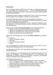 Bildungsziele Mit der Bildungsvereinbarung NRW haben ... - Hemer