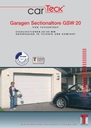 Garagen Sectionaltore GSW 20 - Der Garagentor-Spezialist ...
