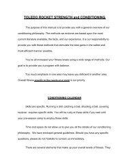 TOLEDO ROCKET STRENGTH and CONDITIONING - University of ...
