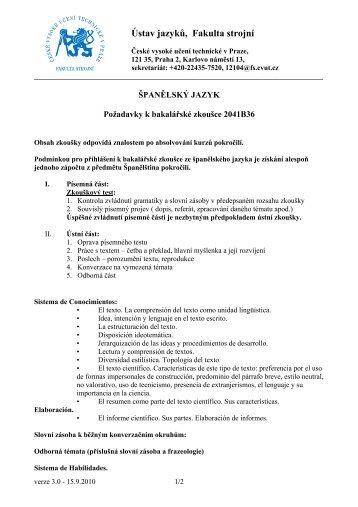 Ústav jazyků, Fakulta strojní - Ústav jazyků Fakulty strojní