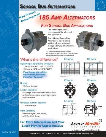 185 AMP ALTERNATORS - News - Prestolite Electric Inc.