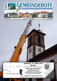 Ausgabe :Gomaringen 20.03.10.pdf - Gomaringer Verlag