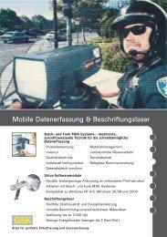 Mobile Datenerfassung & Beschriftungslaser