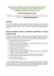 návod na hodnotenie systému manažérstva bezpečnosti práce v ...