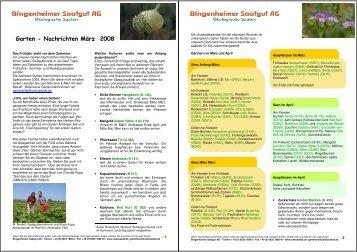 Garten-Nachrichten _ März 2008 - Bingenheimer Saatgut AG