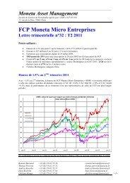 Lettre 2ème trimestre 2011 - Moneta Asset Management