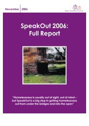 SpeakOut 2006 Full Report - Glasgow Homelessness Network