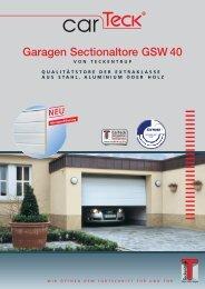 Garagen Sectionaltore GSW 40 - Der Garagentor-Spezialist ...
