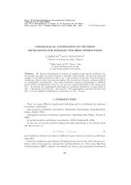 Contributed paper COSMOLOGICAL CONSTRAINTS ON ...