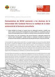 Leer nota de prensa - SEFaC