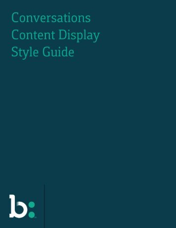 Content Display Style Guide