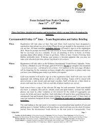 Focus Ireland Four Peaks Challenge June 11 – 13 2010 ...