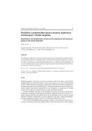 Rozšíření a problematika taxonů skupiny Asplenium trichomanes v ...